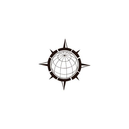 inspiration Creative Compass Concept Logo Design Template, Compass Logo sign and symbol., Coastal Logo Compass 版權商用圖片 - 134042138