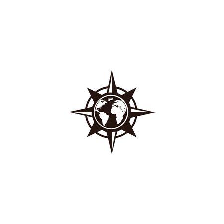 inspiration Creative Compass Concept Logo Design Template, Compass Logo sign and symbol., Coastal Logo Compass 版權商用圖片 - 134042142