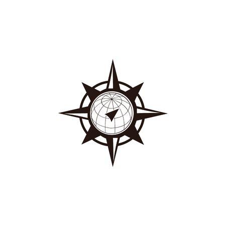 inspiration Creative Compass Concept Logo Design Template, Compass Logo sign and symbol., Coastal Logo Compass 版權商用圖片 - 134042167