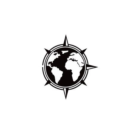 inspiration Creative Compass Concept Logo Design Template, Compass Logo sign and symbol., Coastal Logo Compass 版權商用圖片 - 134042169