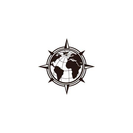 inspiration Creative Compass Concept Logo Design Template, Compass Logo sign and symbol., Coastal Logo Compass 版權商用圖片 - 134042171
