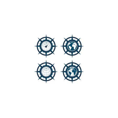 inspiration Creative Compass Concept Logo Design Template, Compass Logo sign and symbol., Coastal Logo Compass