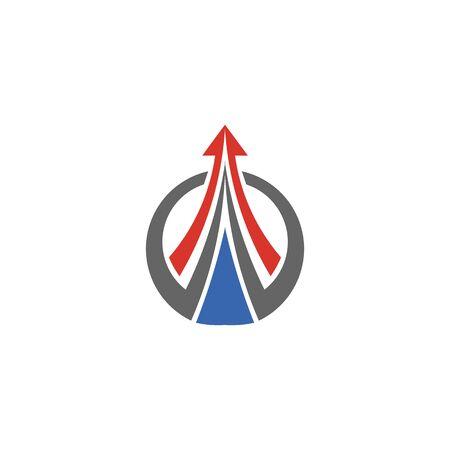 Abstract logo for business company. Corporate identity design element. Growth Logotype idea. Arrow up 版權商用圖片 - 134042186