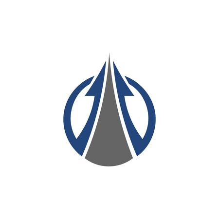 Abstract logo for business company. Corporate identity design element. Growth Logotype idea. Arrow up 版權商用圖片 - 134042189