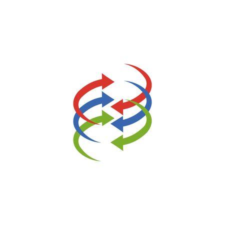 Abstract logo for business company. Corporate identity design element. Growth Logotype idea. Arrow up 版權商用圖片 - 134042192