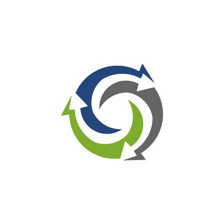 Abstract logo for business company. Corporate identity design element. Growth Logotype idea. Arrow up 版權商用圖片 - 134042193