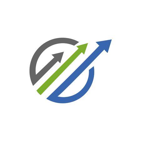 Abstract logo for business company. Corporate identity design element. Growth Logotype idea. Arrow up 版權商用圖片 - 134042195
