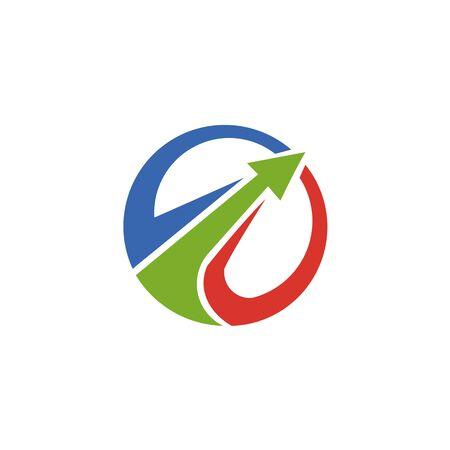 Abstract logo for business company. Corporate identity design element. Growth Logotype idea. Arrow up 版權商用圖片 - 134042230