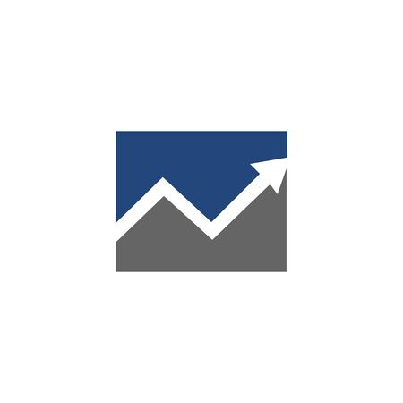 Abstract logo for business company. Corporate identity design element. Growth Logotype idea. Arrow up 版權商用圖片 - 134042231