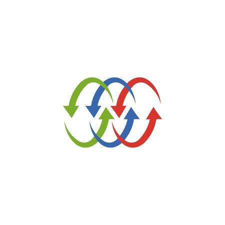 Abstract logo for business company. Corporate identity design element. Growth Logotype idea. Arrow up 版權商用圖片 - 134042232