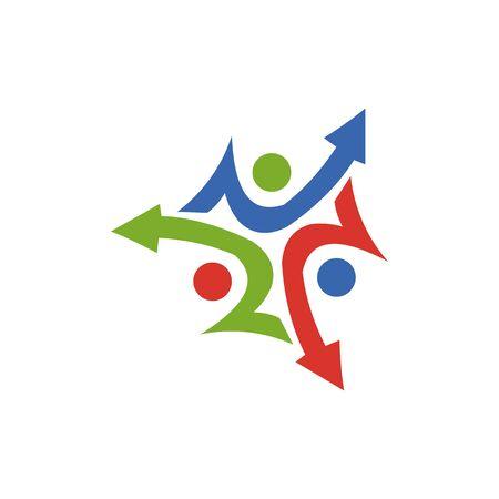 Abstract logo for business company. Corporate identity design element. Growth Logotype idea. Arrow up 版權商用圖片 - 134042238