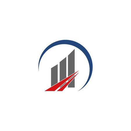 Abstract logo for business company. Corporate identity design element. Growth Logotype idea. Arrow up 版權商用圖片 - 134042244