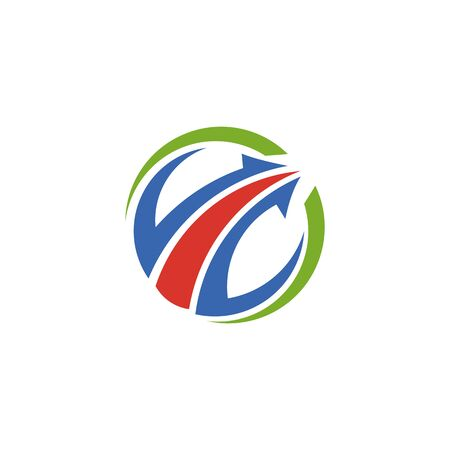 Abstract logo for business company. Corporate identity design element. Growth Logotype idea. Arrow up 版權商用圖片 - 134042246