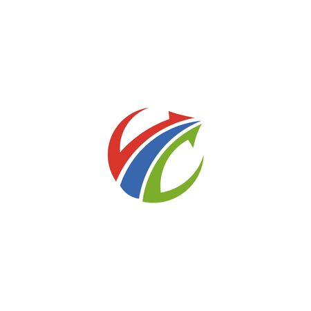 Abstract logo for business company. Corporate identity design element. Growth Logotype idea. Arrow up 版權商用圖片 - 134042281