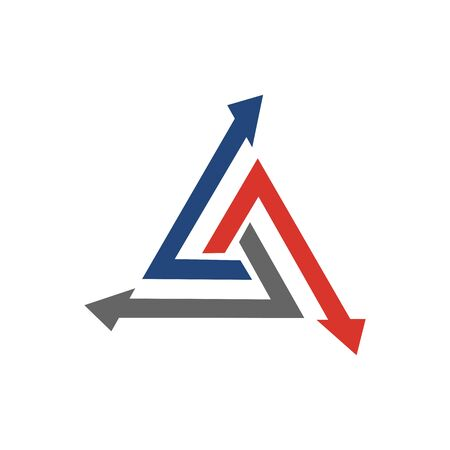 Abstract logo for business company. Corporate identity design element. Growth Logotype idea. Arrow up 版權商用圖片 - 134042540