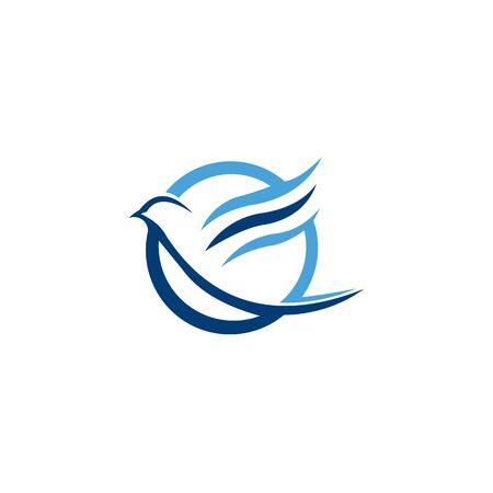 Bird Logo Template Vector Design Иллюстрация