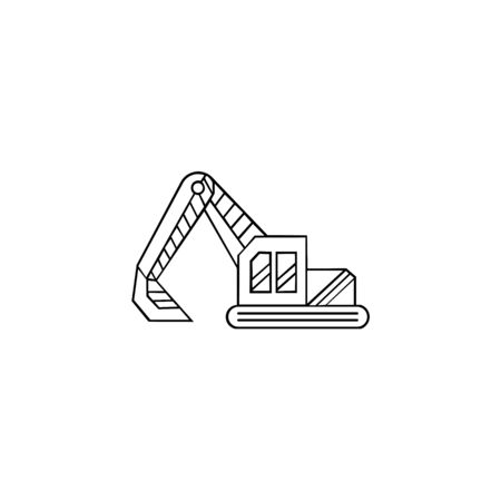 inspiration excavator icon, excavator icon trendy and modern excavator symbol for logo