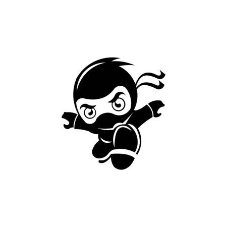 Ninja Samurai Warrior Fighter weapon swords Character Cartoon inspiration logo