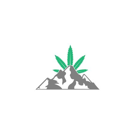 Snow mountains peak logo, Can be used as sports badge, emblem of mineral water, tourism banner, travel icon, sign, decor,logo altitude marijuana