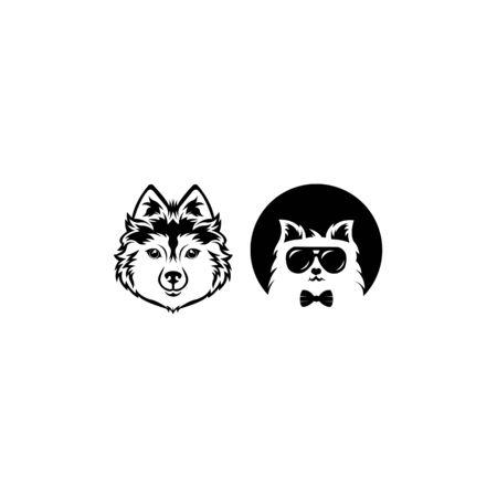 Cat logo vector illustration, modern cat logo template isolated on white background