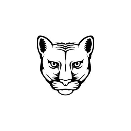 Leopard head logo,Wild cat emblem design editable