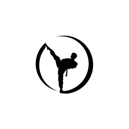 Logo for the club of martial arts Karate, kung fu or wushu,taekwondo