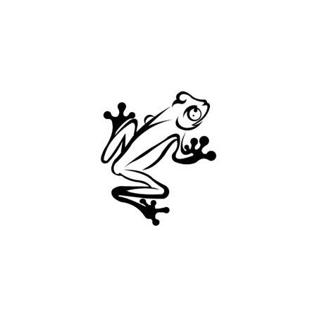 Vector of frog design Amphibian  Animal, Frog logo or Icon