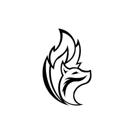inspiration fox unique logo design , fox icon logo, fox icon design vector Stok Fotoğraf - 138421579