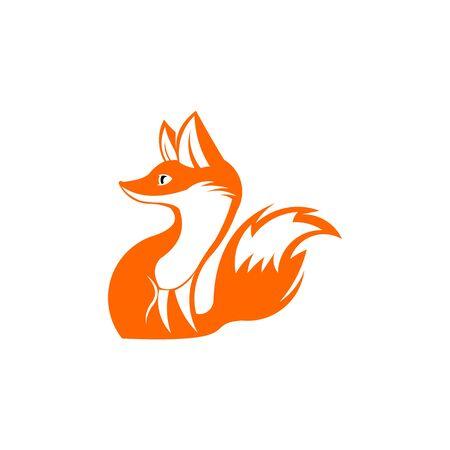 inspiration fox unique logo design , fox icon logo, fox icon design vector Stok Fotoğraf - 138421580