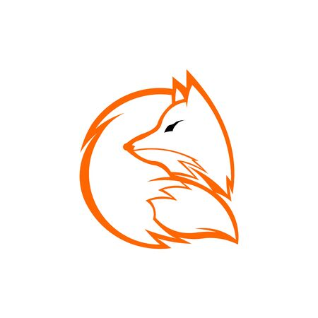 inspiration fox unique logo design , fox icon logo, fox icon design vector Stok Fotoğraf - 138421583