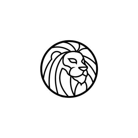 inspiration Heraldic lion vector, Line and silhouette lions for arms,Animal heraldic leo icon, royal insignia for shield illustration