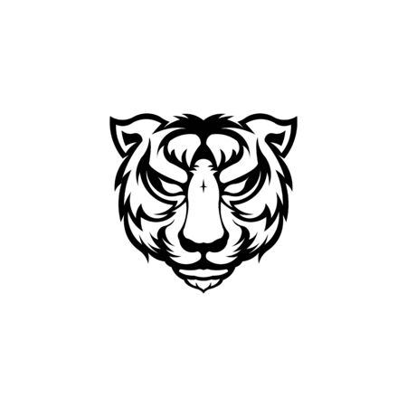 Angry tiger head, Vector illustration for use as print, poster, sticker, logo, tattoo, emblem and other,Bengal Tiger sports mascot logo,Tiger mascot,Angry tiger face