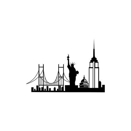 New York city vector  logo, Element of USA states vector illustration, Staten Island, Borough of New York city. Illustration