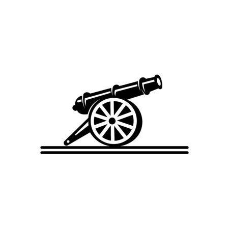 inspiration Cast-iron cannon icon,Simple logo  of cast-iron cannon icon for web