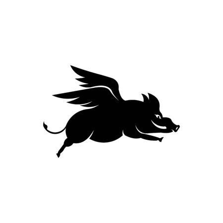 Wild boar side view vector icon,Forest animal symbol