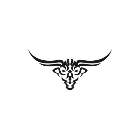 Bull head vector logo Buffalo head logo, Bull head logo Bull Animal logo sign
