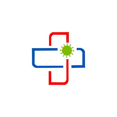 cross medical health care professionals fighting with corona virus pandemic or corona virus disease 2019 COVID-19