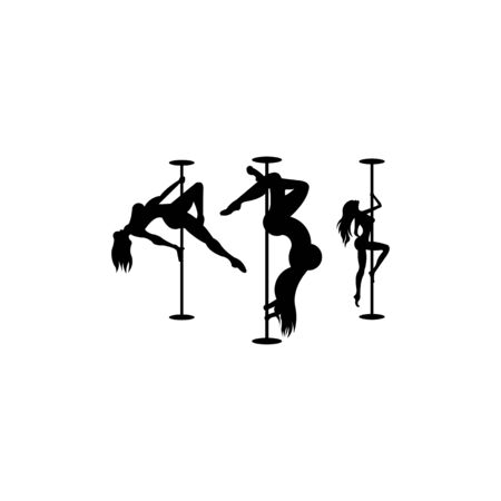 silhouette Dancing cafe in rays of light  Vector illustration