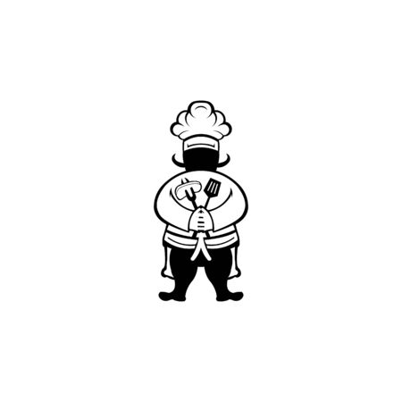 chef vector on white background from restaurant collection. chef  trendy and modern chef symbol for logo