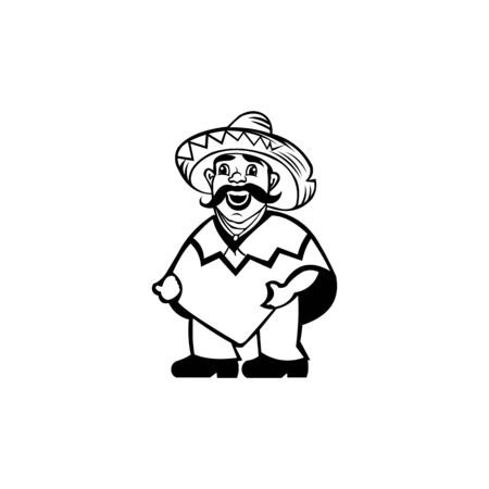 cowboy vector icon,Cartoon vector icon isolated on white background  cowboy.