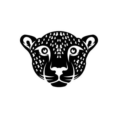 head Puma or jaguar, Woodland animal head icon Angry puma Ilustração