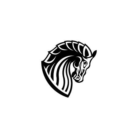 head horse for element design symbol, Head horse vector design symbol