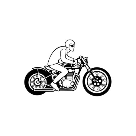 Motorbike riding vector , motorbike from modern transportation collection