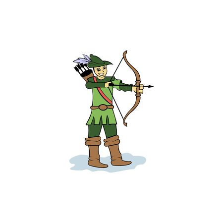 archery , Vector badge concept, Archer with sport bow and target with arrow, Archery competition