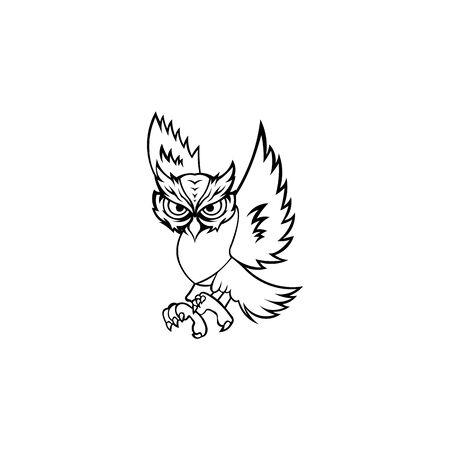 inspiration owl , owl sunglasses  design, owl mascot design, owl character design vector