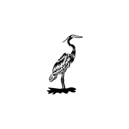 flamingo vector isolated on white background from wildlife collection, flamingo vector trendy and modern flamingo symbol Ilustrace