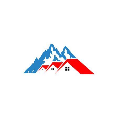 Vector Home Mountain  Concept,  vector design house landscape