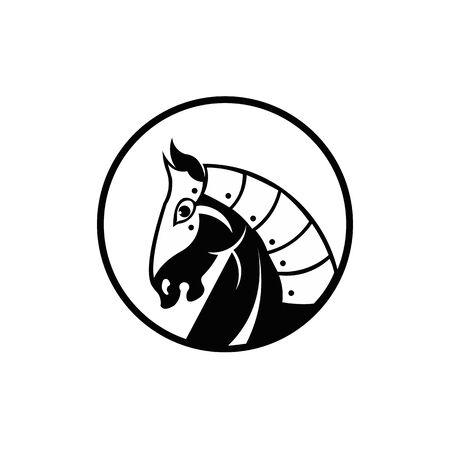 Knight horse mascot ,vector Simple of knight head horse mascot vector  for web design Ilustrace