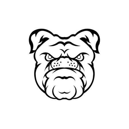Dog head icon,inspiration Logo design head dog