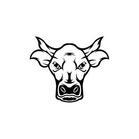 Vector of a cow head design  Farm Animal